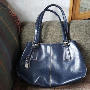Liz Claiborne Blue Leatherlike Purse